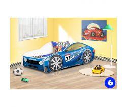 Pinokio Deluxe Závodní auto 6 dětská postel NEW