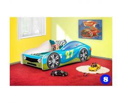 Pinokio Deluxe Závodní auto 8 dětská postel NEW
