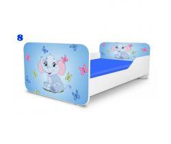 Pinoko Deluxe Square Sloník 8 dětská postel