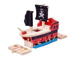Pirátská galéra Bigjigs Rail