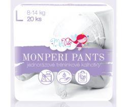 Plenkové kalhotky Monperi Pants L (8-13 kg) 20 ks
