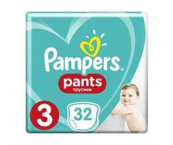 Plenkové kalhotky 6-11 kg 32 ks Pampers Pants 3