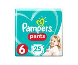 Plenkové kalhotky 9-15 kg 25 ks Pampers Pants 6