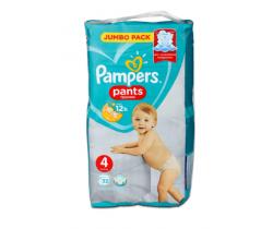 Plenkové kalhotky Pampers Jumbo Pack S4 (9-15 kg) 52 ks