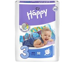 Pleny Bella Baby Happy Midi 5-9 kg 52 ks