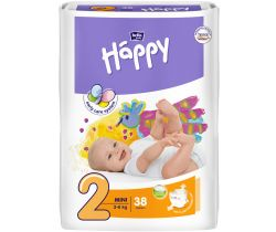 Pleny Bella Baby Happy Mini 3-6 kg 38 ks