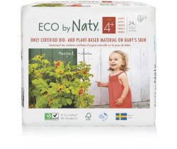 Pleny Naty Nature Babycare Maxi Plus 4+ (9-20 kg) 24 ks