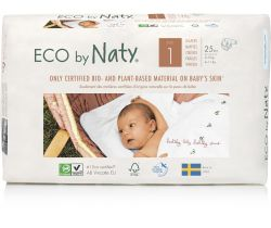 Pleny Naty Nature Babycare Newborn 1 (2-5 kg) 25 ks