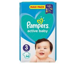 Pleny Pampers Active Baby Maxi Pack 3 (6-10 kg) 66 ks
