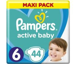 Pleny Pampers Active Baby Maxi Pack 6 (13-18 kg) 44 ks