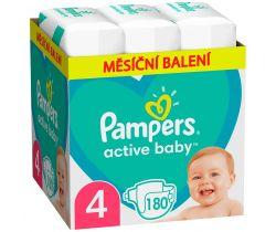Pleny Pampers Active Baby vel. 4 (9-14 kg) 180 ks - měsíční balení