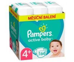 Pleny Pampers Active Baby vel. 4+ (10-15 kg) 164 ks - měsíční balení