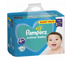 Pleny Pampers Giantpack Maxi Plus 4+ (10-15 kg) 70 ks