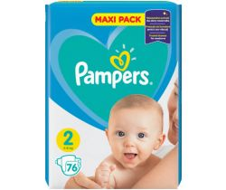 Pleny Pampers New Baby Active Baby Maxi Pack 2 (4-8 kg) 76 ks