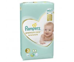 Pleny Pampers Premium Care Midi 3 (6-10 kg) 60 ks
