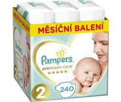 Pleny Pampers Premium Care vel. 2 (4-8 kg) 240 ks - měsíční balení