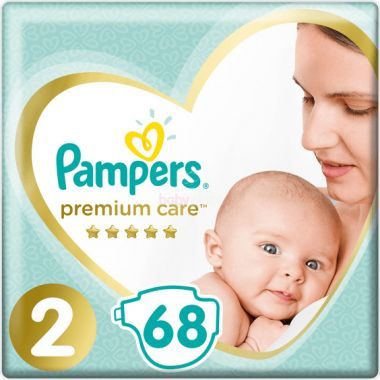 Pleny Pampers Premium Care Mini 2 (4-8 kg) 68 ks
