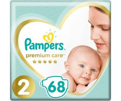Pleny Pampers Premium Care Mini 2 (4-8 kg) 68 ks