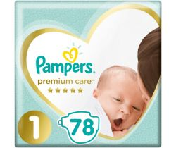 Pleny Pampers Premium Newborn 1 (2-5 kg) 78 ks