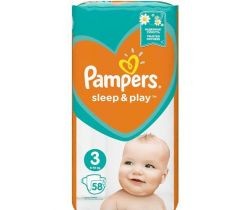Pleny Pampers Sleep&Play Midi 3 (6-10 kg) 58 ks