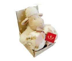 Plyšová deka + hračka Bobas Ovečka