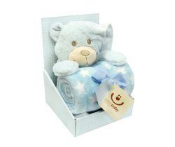 Plyšová deka + hračka Bobas Spící Medvídek
