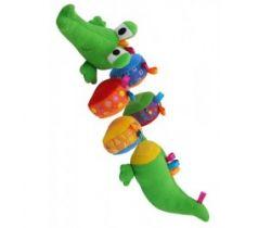 Plyšová edukační hračka BabyMix Krokodýlek