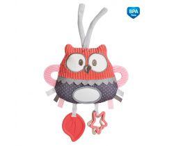 Plyšová edukační zavazovací hračka Canpol Pastel Friends Sovička