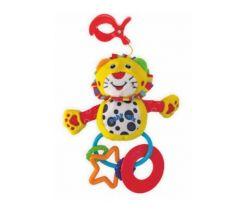 Plyšová hračka na kočárek s klipsem a kousátky BabyMix Lvíček