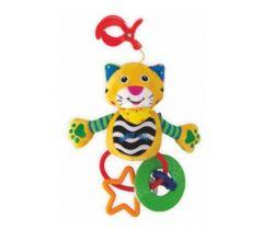 Plyšová hračka na kočárek s klipsem a kousátky BabyMix Tygřík