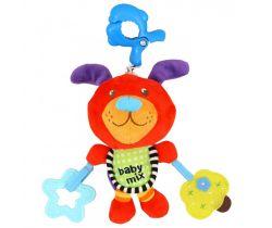 Plyšová hračka s hracím strojkem BabyMix Ćervený Pejsek