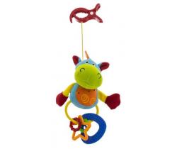 Plyšová hračka s klipsou BabyMix Kravička modrá