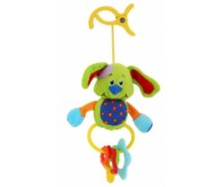 Plyšová hračka s klipsou BabyMix Pejsek zelený