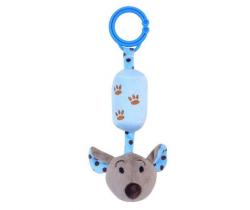 Plyšová hračka s rolničkou BabyMix Myška modrá
