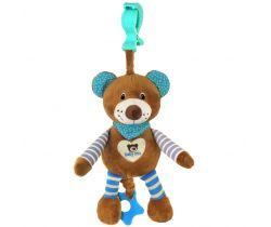 Plyšová hračka s vibrací BabyMix Medvídek modrý