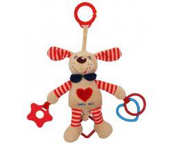 Plyšová hračka s vibrací BabyMix Pejsek Červený