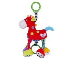 Plyšová hračka se zvukem BabyMix Červený Koníček