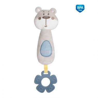 Plyšová pískací hračka s kousátkem Canpol Pastel Friends Medvídek