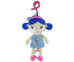 Plyšová závěsná hračka se zvukem BabyMix Marine Girl Blue
