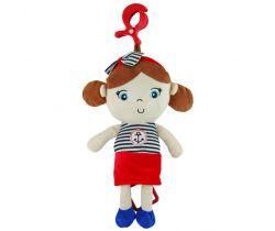 Plyšová závěsná hračka se zvukem BabyMix Marine Girl Red