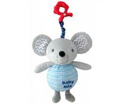 Plyšová závěsná hračka se zvukem BabyMix Mouse