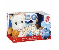 Plyšová žirafa s nočním světýlkem a melodiemi Vulli