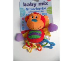 Plyšové chrastítko BabyMix Opička