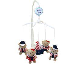 Plyšový hudební kolotoč BabyMix Sailor Bear
