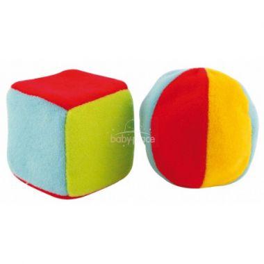 Canpol plyšová kostka velká a velký míček