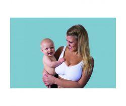 Podprsenka ke kojení bezešvá Push Up s gelovou kosticí Carriwell Bílá