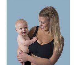 Podprsenka ke kojení bezešvá Push Up s gelovou kosticí Carriwell Černá