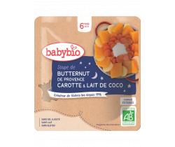 Polévka z máslové dýně s mrkví a kokosovým mlékem 190g Babybio