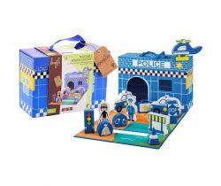 Policejní stanice v kufříku 13ks 18m+ Jouéco