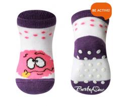 Ponožky 587/01 bavlněné protiskluzové 0+ BabyOno